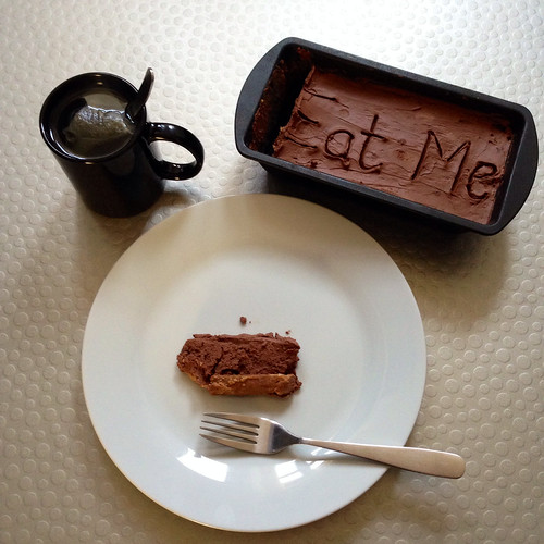 Double chocolate cheesecake. Green tea. Delicious!
