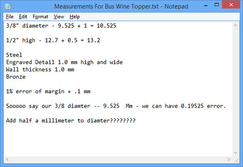 MATH!  Calculating my Cylinder Diameter