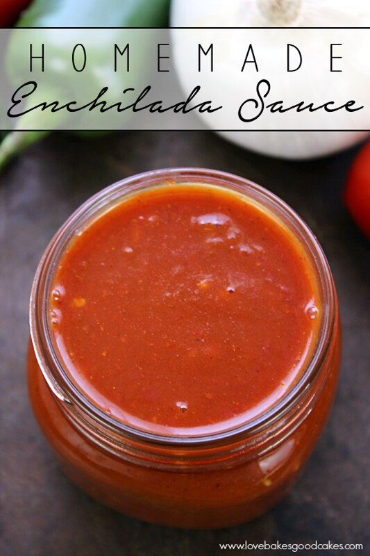 Ditch the canned stuff for this awesome Homemade Enchilada Sauce! It has tons of flavor and it is so easy to prepare!