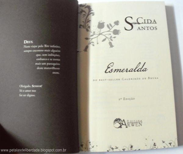 Resenha, livro, Esmeralda, Cida dos Santos, Editora Arwen,  poesia, romance, trechos