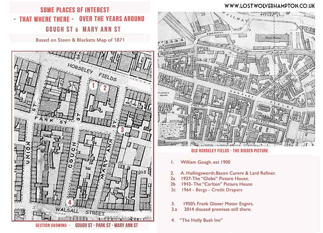 Steen & Blacket's Map of 1871 - continuing with Mary Ann Street to Gough Street.