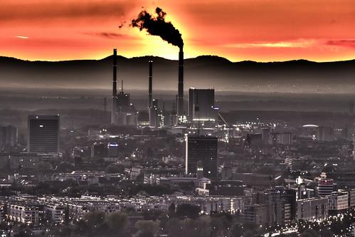 Karlsruhe im Sonnenuntergang