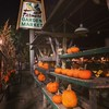 Pumpkin row at Farmers Garden Market on Lawrence Ave in Chicago