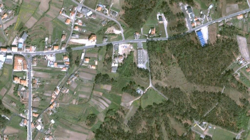 vilalonga, pontevedra, poligonazos en la general, antes, urbanismo, planeamiento, urbano, desastre, urbanístico, construcción