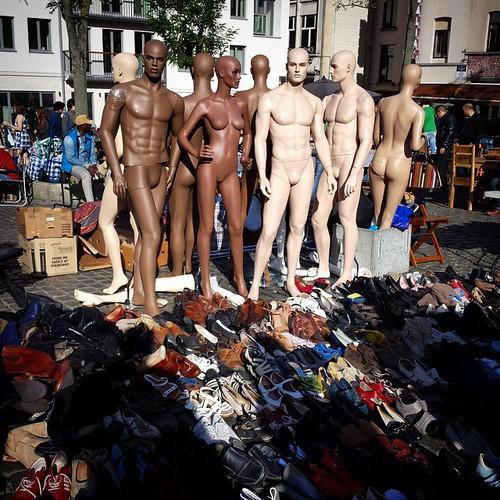 'Shamelessly naked' - #Brussels #belgium 2014 #naked #fleamarket #photography