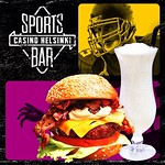 NFL: Sports Bar Casino Helsinki - SUPER SIZE SUNDAYS!  Superburger with Chips 15 € Milkshake 7,5 € + muita juomatarjouksia  Klo 19.00 NFL LIVE: New England Patriots - Chicago Bears Klo 22.25 NFL LIVE: Indianapolis Colts - Pittsburgh Steelers  Klo 20 POKER