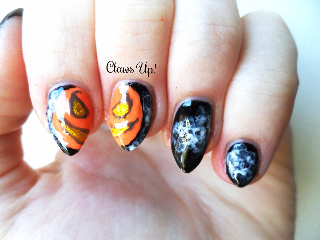 Halloween Nail Art: Evil Pumpkin