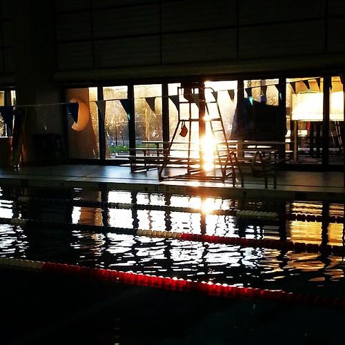 pool swimming sunrise square lofi squareformat instagramapp uploaded:by=instagram earlymorningadventure foursquare:venue=4b48b61cf964a520b25326e3