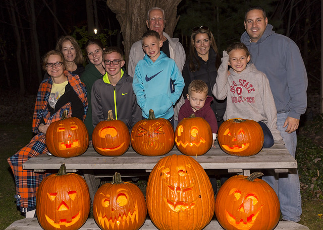 Family and Pumpkins