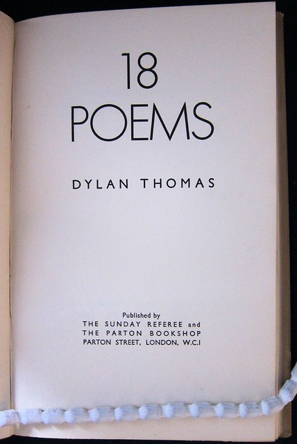 18 poems title page