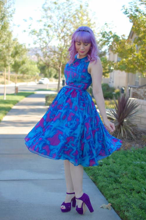 Modcloth Geode Bright On Schedule dress 007