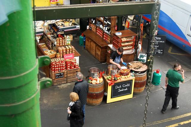 Duck Confit Sandwiches at Borough Market