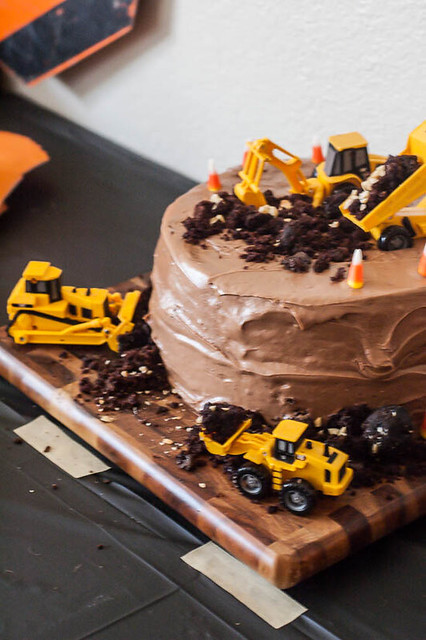 Excavation Birthday Cake