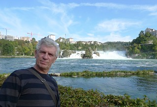 Image of Rhine Falls near Laufen. river waterfall mc quizzical rhine neuhausenamrheinfall