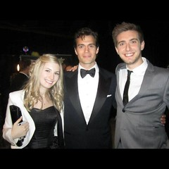 FLASHBACK FAN PIC: Lauren V. and Kevin M. met Henry back at the 2013 Critics' Choice Movie Awards and snapped a pic. Sweet! #henrycavill #superman #manofsteel #tuxedo #awardsshow