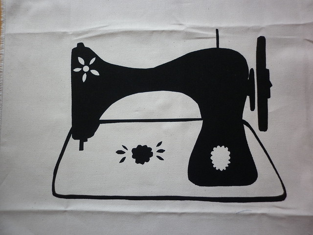 Sewing machine print