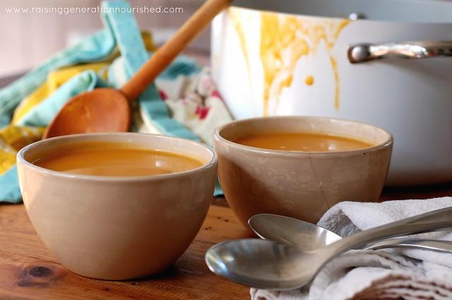 Roasted Butternut Squash & Apple Soup