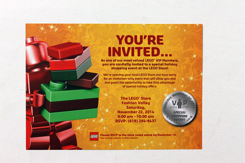 LEGO Store Exclusive Holiday 2014 VIP Shopping Event