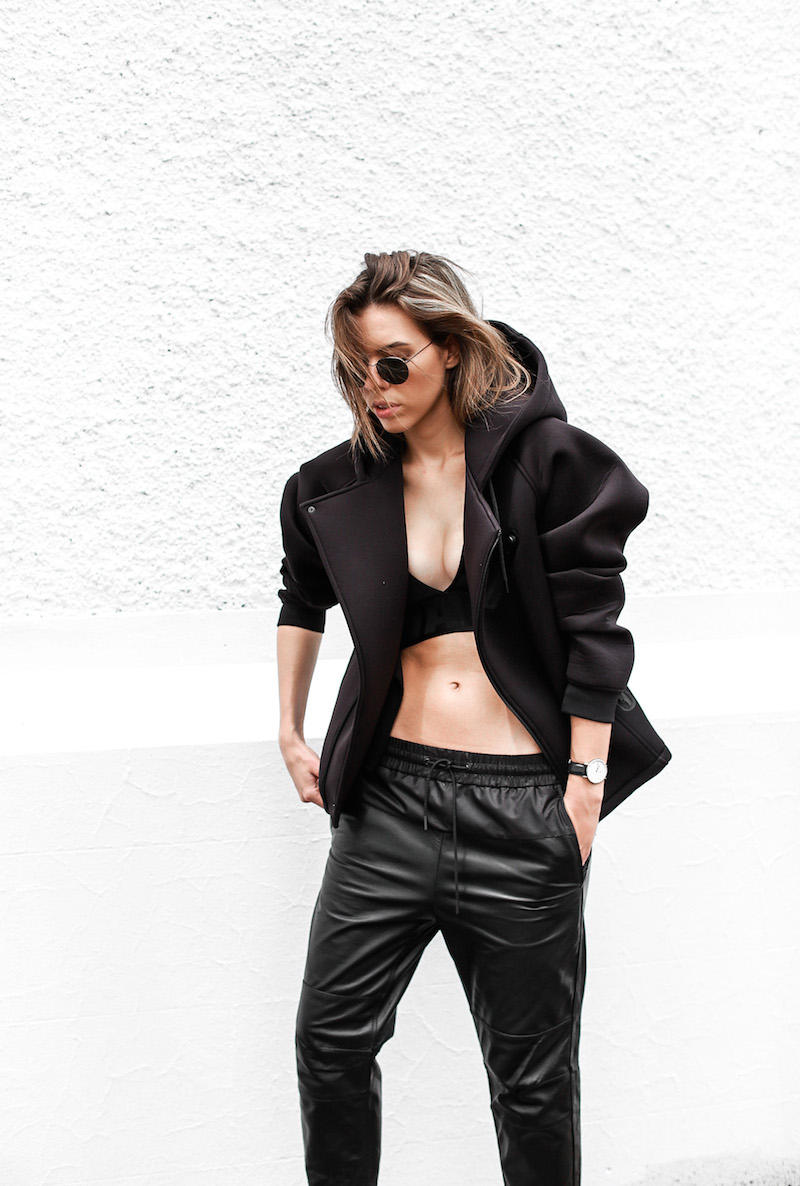 ALEXANDER WANG x H&M all black street style modern legacy fashion blog Australia sport luxe inspo (7 of 14)