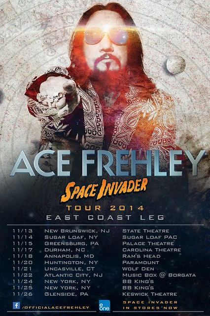 "November 2014 Ace Frehley ""Space Invader"" Tour 2014 (1st Leg)"