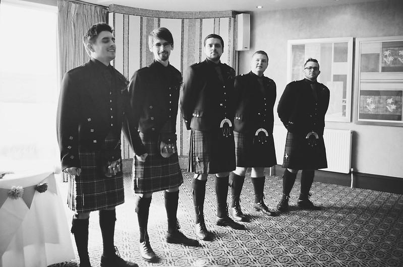 Waiting at this Scottish Harry Potter wedding on @offbeatbride