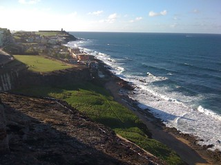 Scene from the fort in Old San Juan