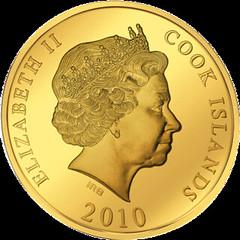 Cook Islands pop-up coin obverse