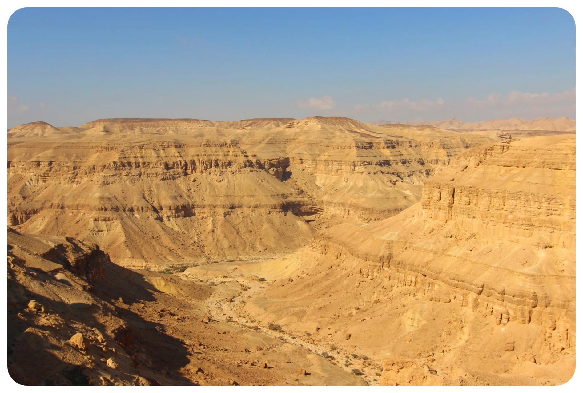 negev desert canyon