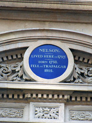 Photo of Horatio Nelson blue plaque
