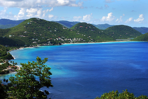The view of Tortola island landscape, British Virgin Islands.