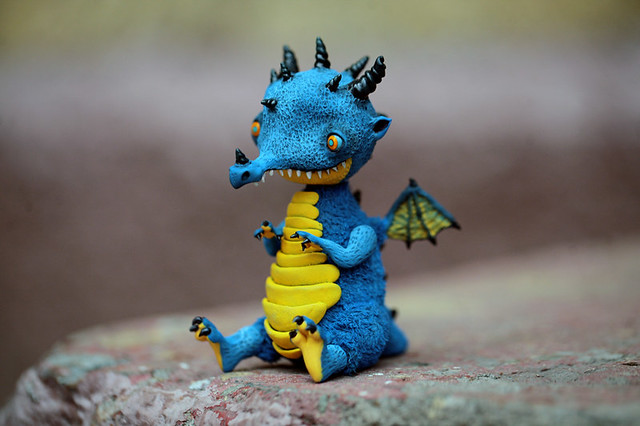 blue dragon-elf