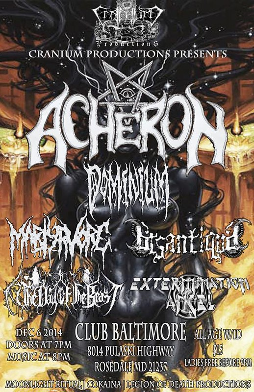 Acheron at Club Baltimore