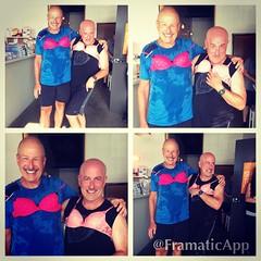 Real men wear pink bras! #breastfriends #iambreastfriend #walkwithsally November 5th at 5pm. #fcancer