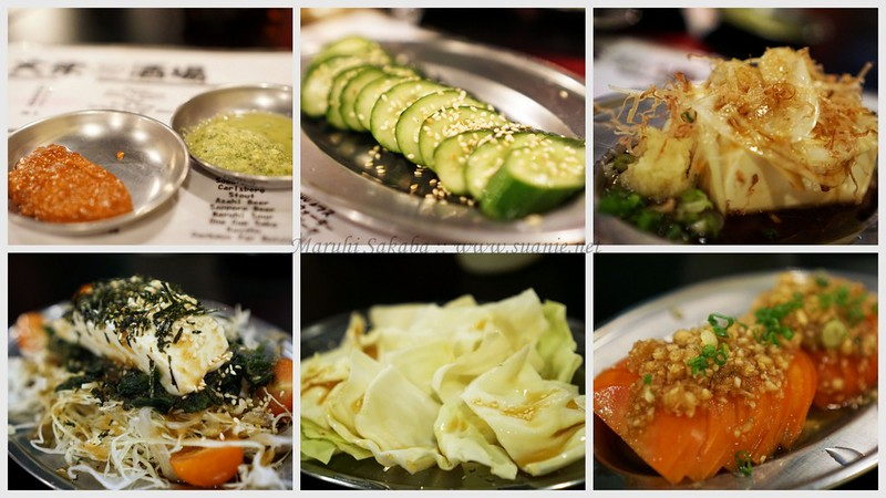Maruhi Sakaba, Taman Desa - salads and tofu