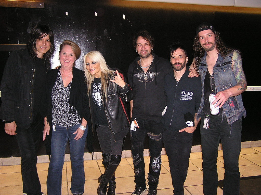 My Mom with Doro and her band