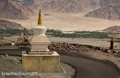 Ladakh chorten w monk