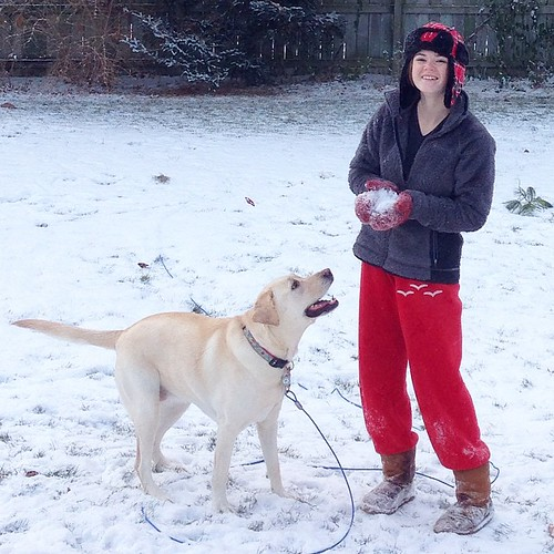Let's go play in the snow!! #earlymorningromp