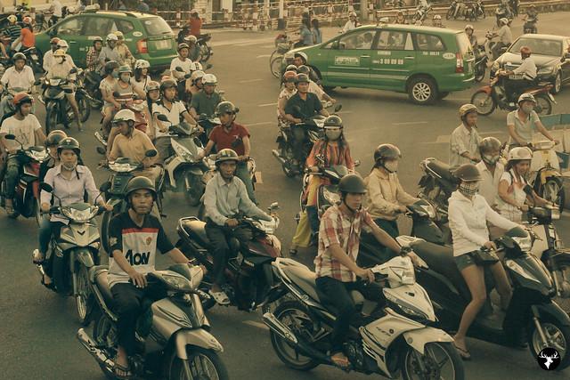 Motorbikes in Hue, Vietnam