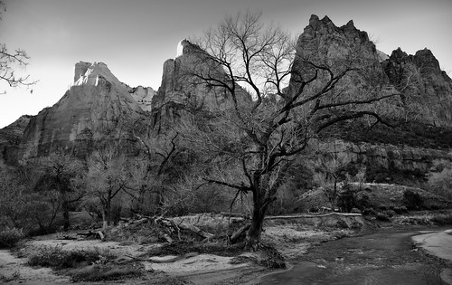 Court of the Patriarchs and the Virgin River (Zion National Park)