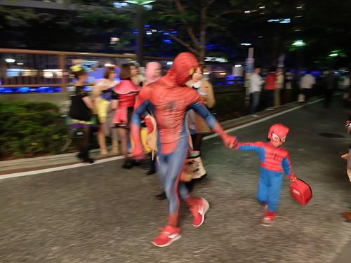 spidermen Nakameguro Blue Halloween 04