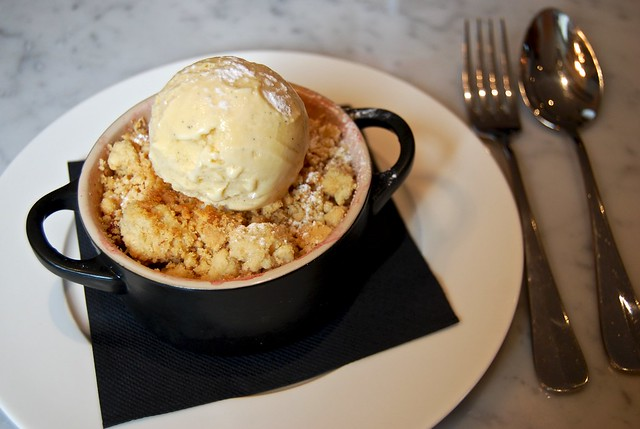 Autumn-Spiced Fruit Crumble at 108 Brasserie, Marylebone