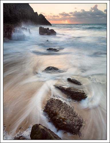 sea beach water wales landscape coast movement rocks unitedkingdom manorbier photostyles