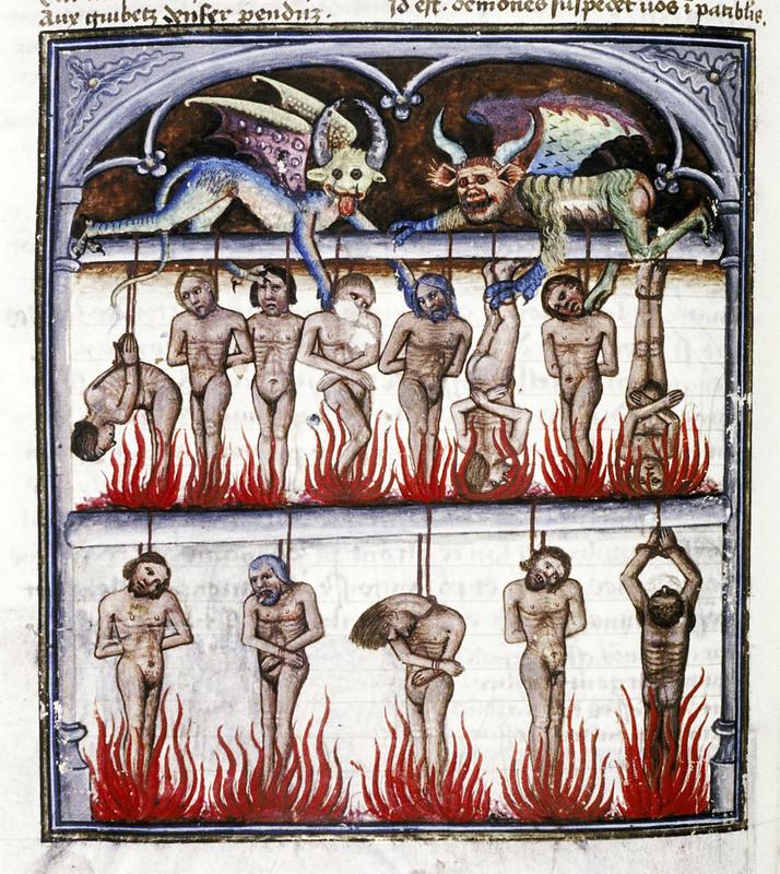 Demons From The Livre de la vigne nostre Seigneur, 1450 - 70 (15)