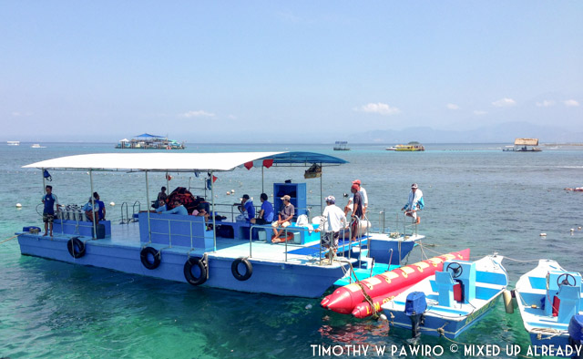 Indonesia - Bali - Bali Tjendana Adventures - Equator Fast Cruise - The Pontoon as the base during water activities