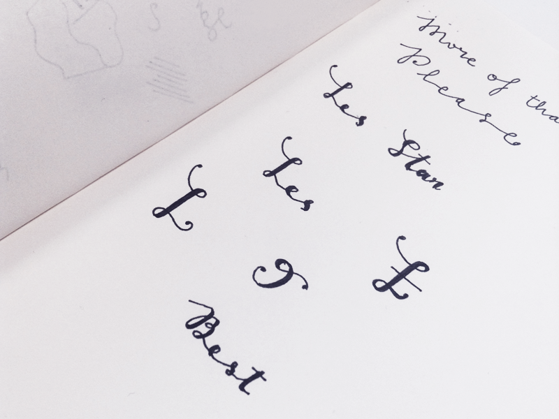 Hand-sketched Lettering Dribbble