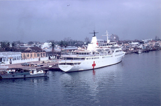 Da Nang 1967 - Hospital ship Helgoland - Photo by Kenneth Van Kley