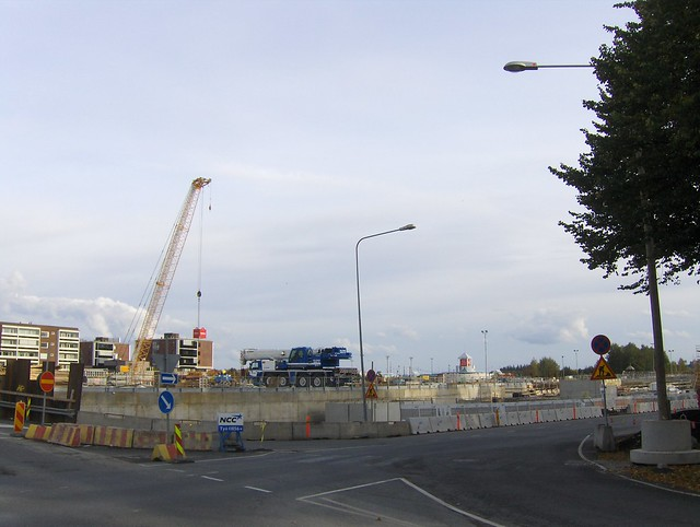 Hämeenlinnan moottoritiekate ja Goodman-kauppakeskus: Työmaatilanne 22.9.2012 - kuva 7