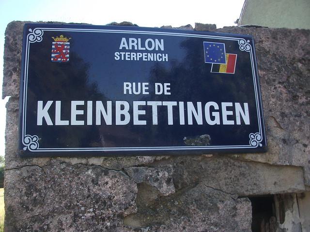 Belgian Street Sign