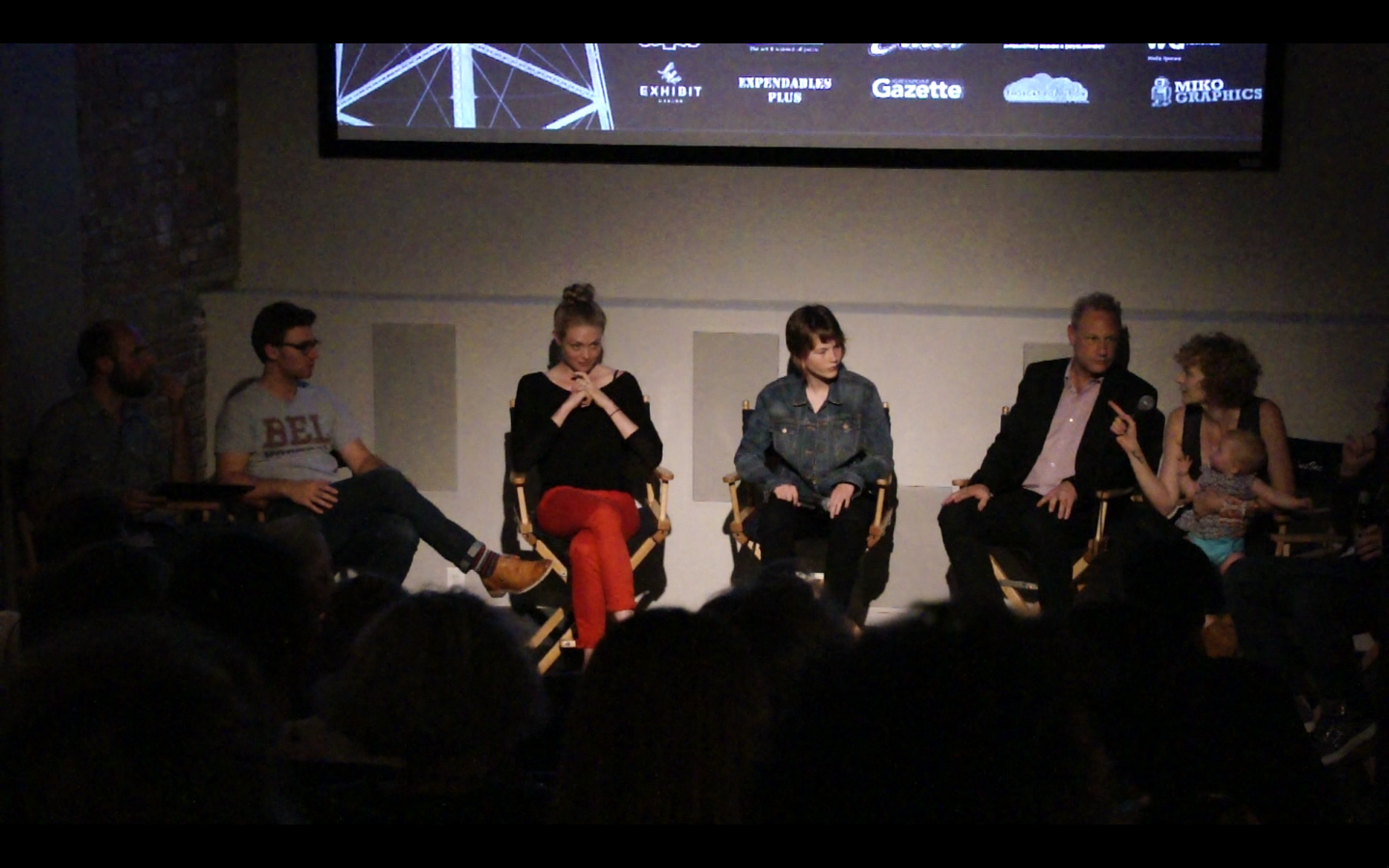 Oona Mekas moderates opening night Q and A
