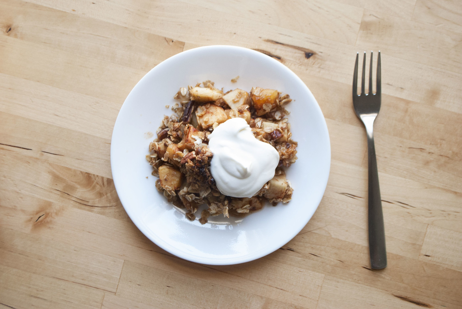 Simple Apple Pecan Crisp | Kitchen in the Hills